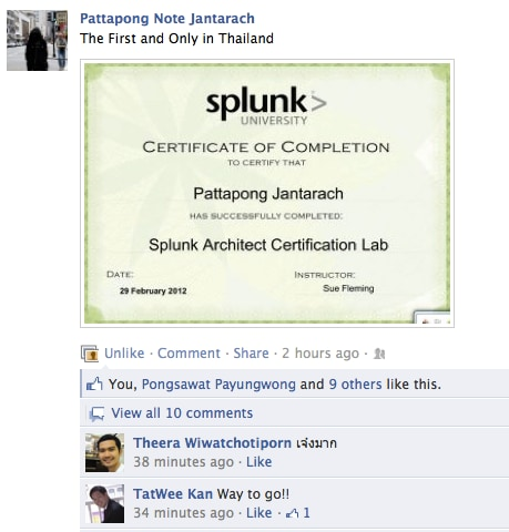 Congratulations To The Newly Minted Apac Splunk Architects Lab Exam