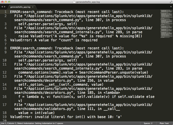 Building custom search commands in Python part I – A simple