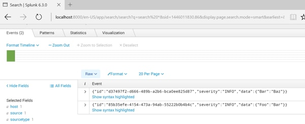 Send JSON objects to HTTP Event Collector using our  NET Logging Library