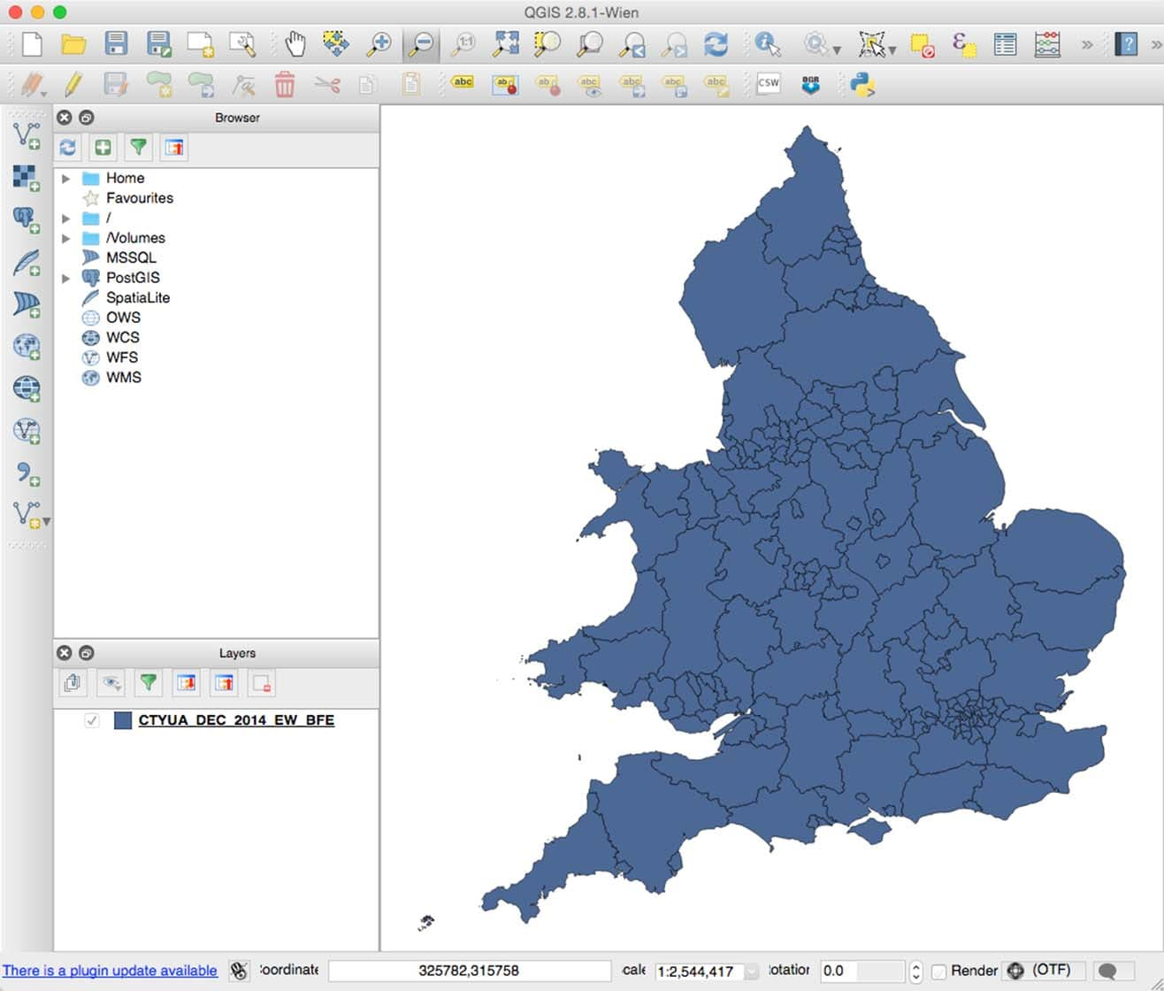 Shapefile QGIS map UK
