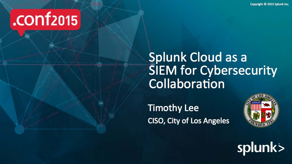 slide Splunk Cloud SIEM Cybersecurity Collaboration
