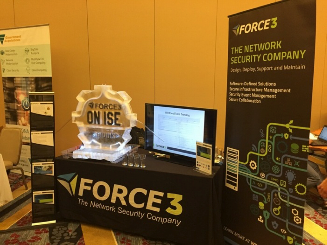 Force 3's Splunk & ISE on ICE display at the Inaugural Splunk GovSummit in Washington, DC.