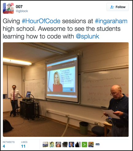 An Hour of Code with Splunk