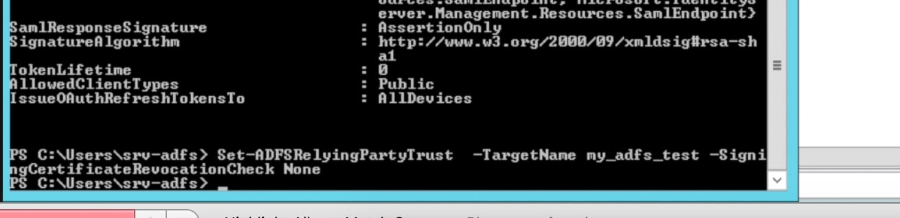 Configuring Microsoft's Active Directory Federation Services (ADFS