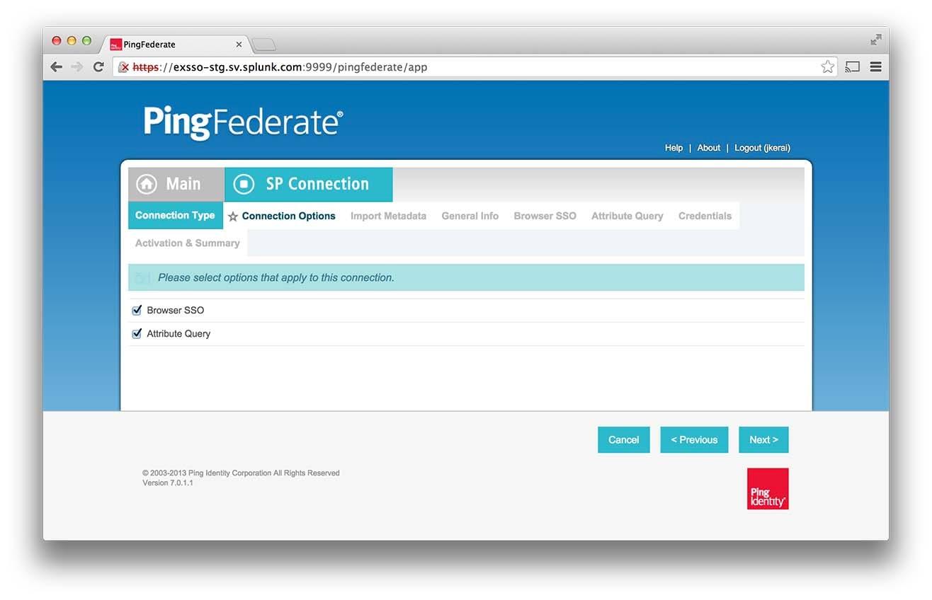 Configuring PingIdentity PingFederate (Ping) Security