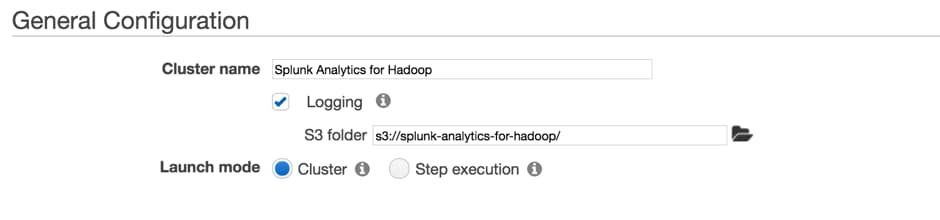 How to: Splunk Analytics for Hadoop on Amazon EMR