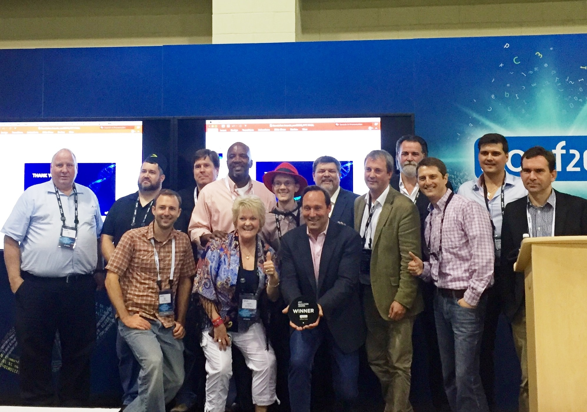 The 2016 Splunk Revolution Award Winners with Splunk CEO, Doug Merritt.