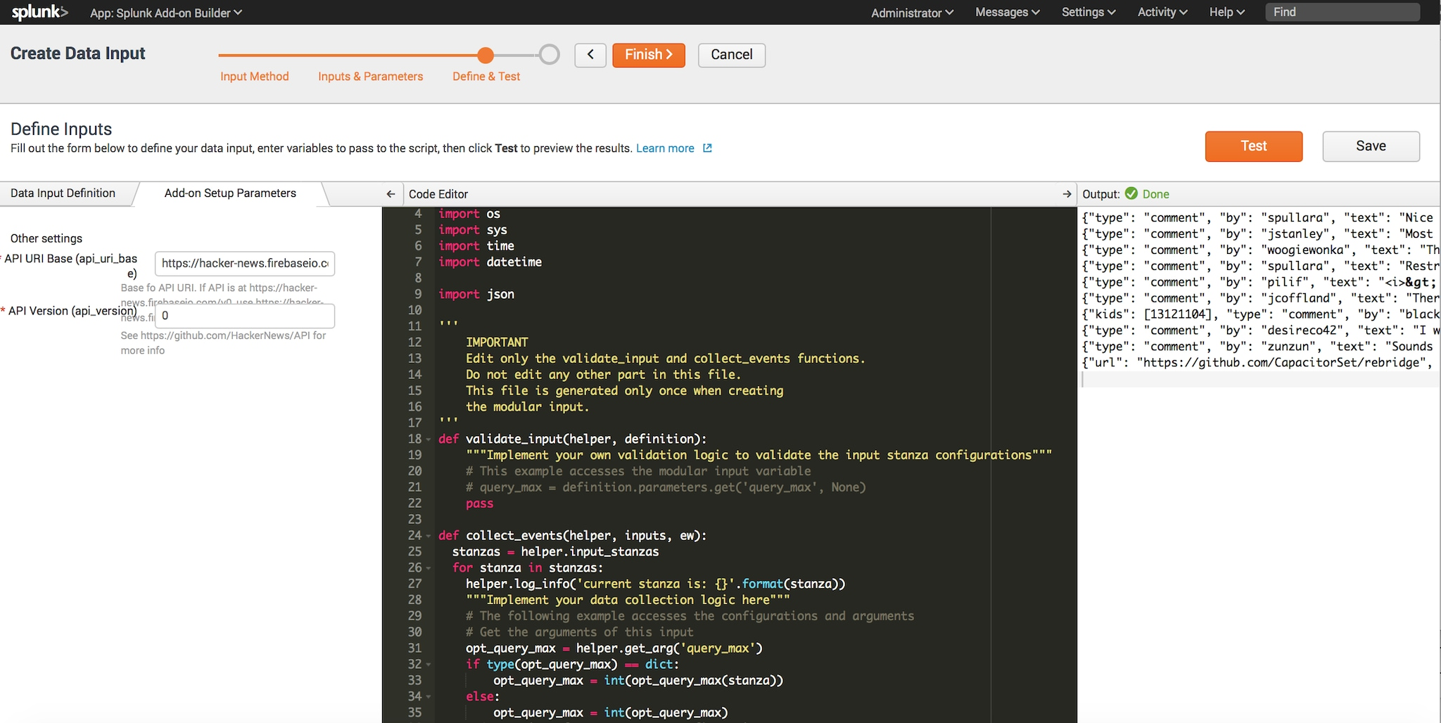 Easily Create Mod Inputs Using Splunk Add-on Builder 2 0 – Part IV