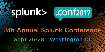 splunk> .conf2017 Sept 25-28 | Washington DC