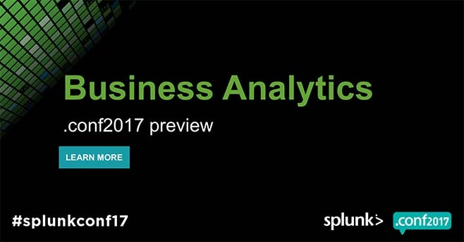 slide Splunk Business Analytics preview