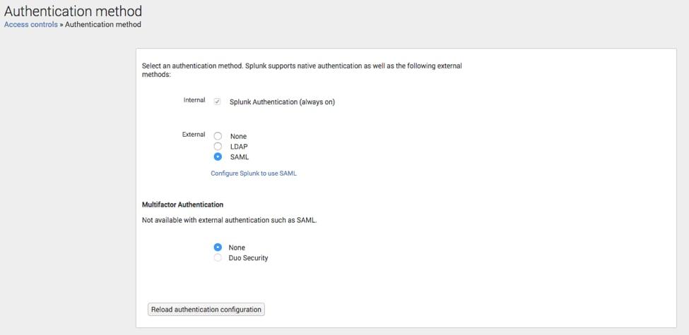 Configuring Microsoft's Azure SAML Single Sign On (SSO) with Splunk
