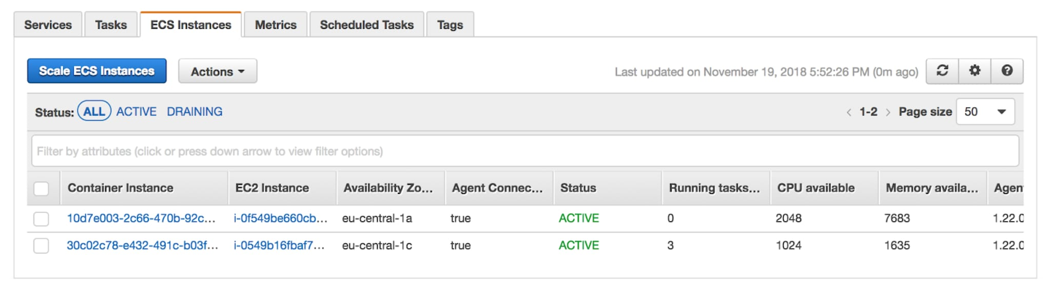 Running Splunk in Amazon's Elastic Container Service