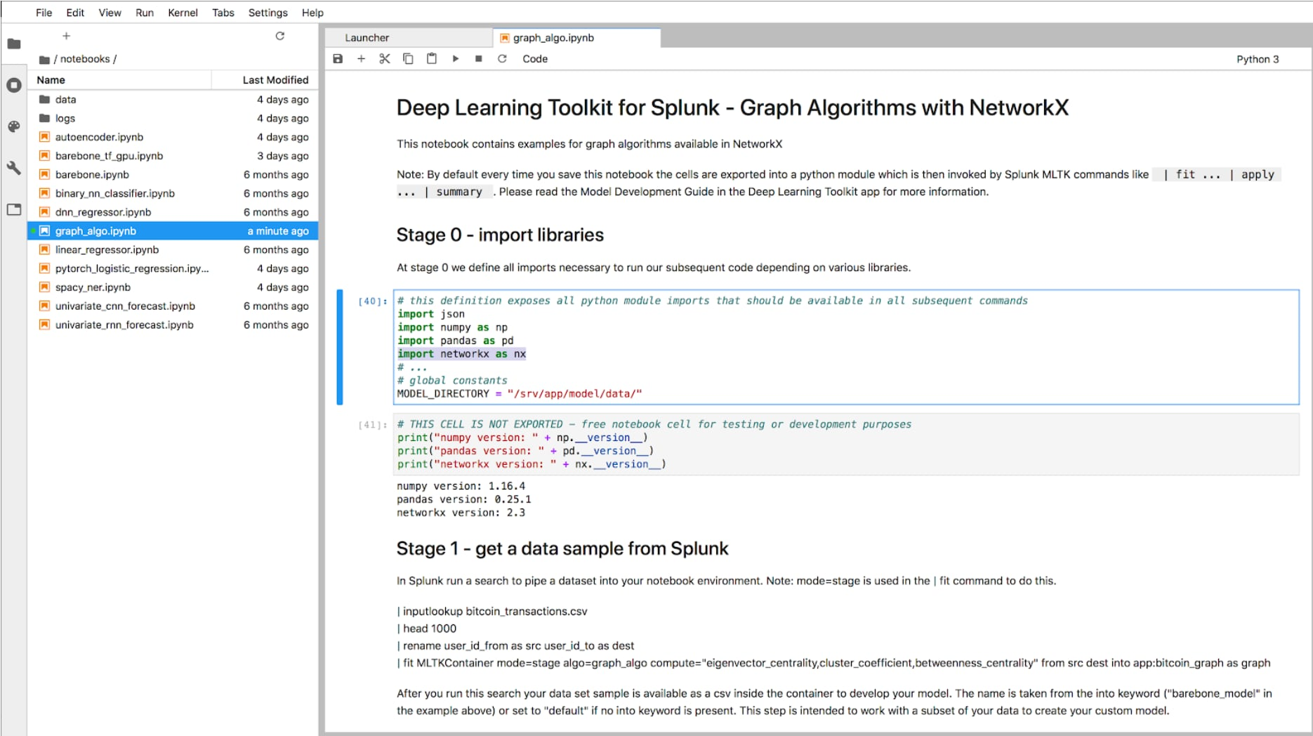 Deep Learning Toolkit for Splunk