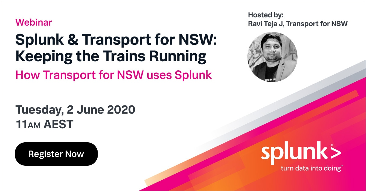Splunk and Transport for NSW Webinar