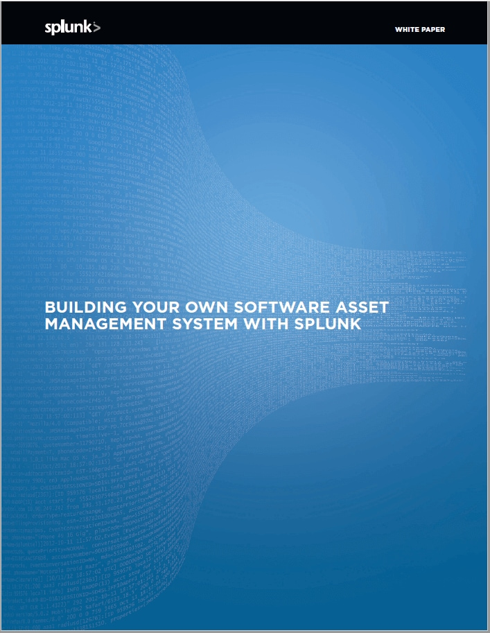 Building your own Software Asset Management System with Splunk