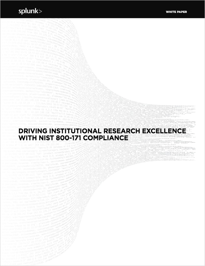 Driving Institutional Research Excellence With NIST 800-171